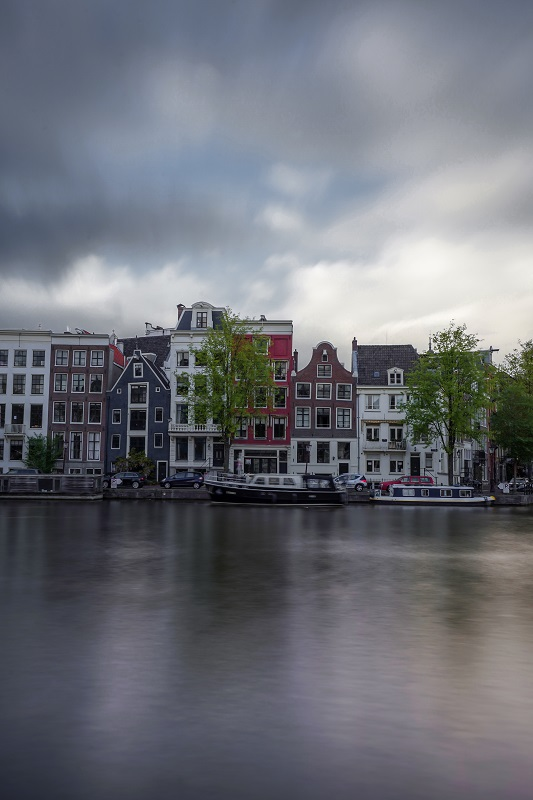 Amsterdam canal long exposure