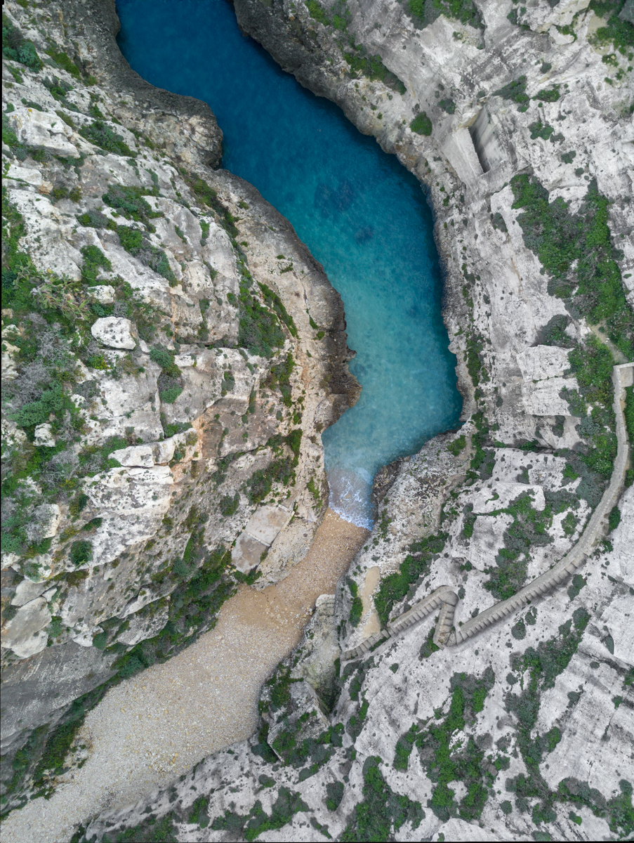 Malta fjord from above