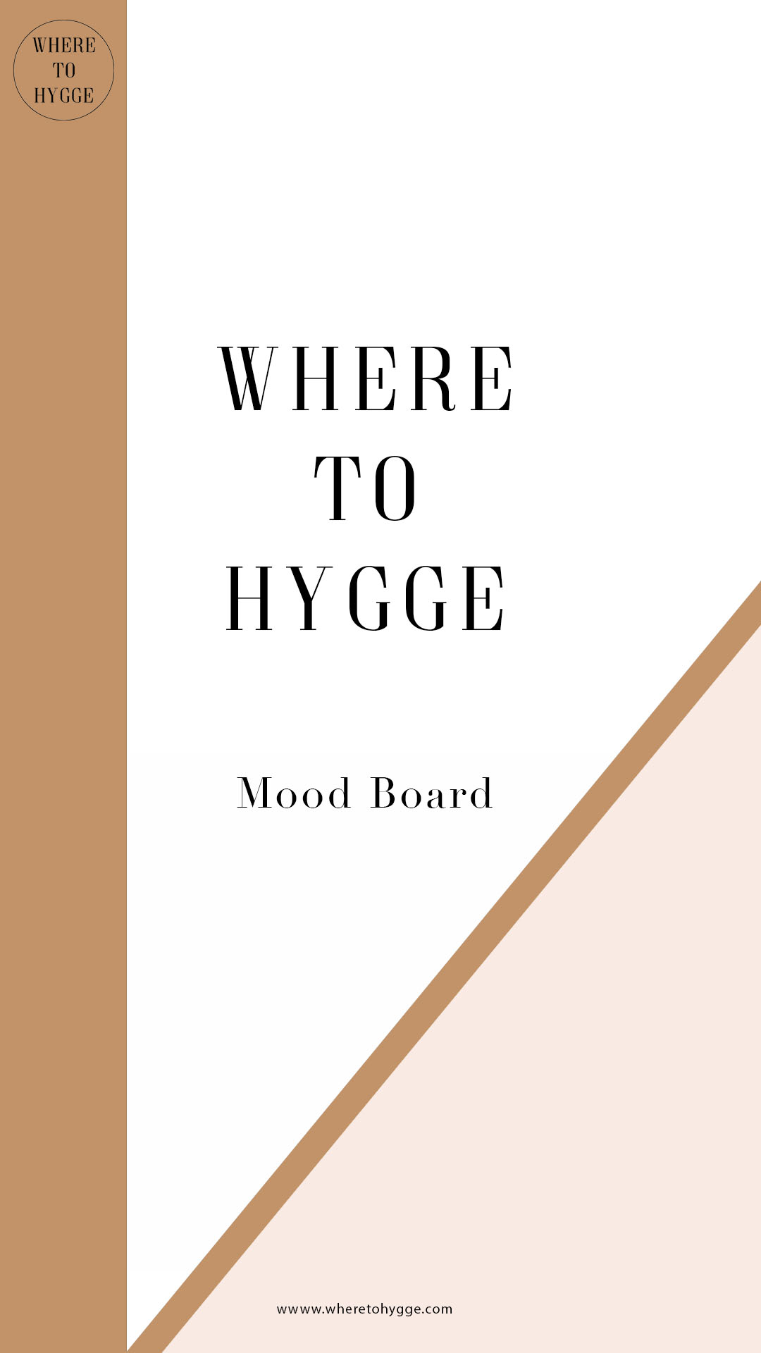 Where to hygge mood board and collage, part of the influencer media kit
