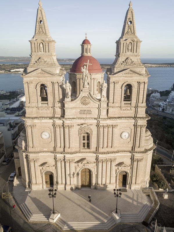 Typical Roman Catholic church in Malta