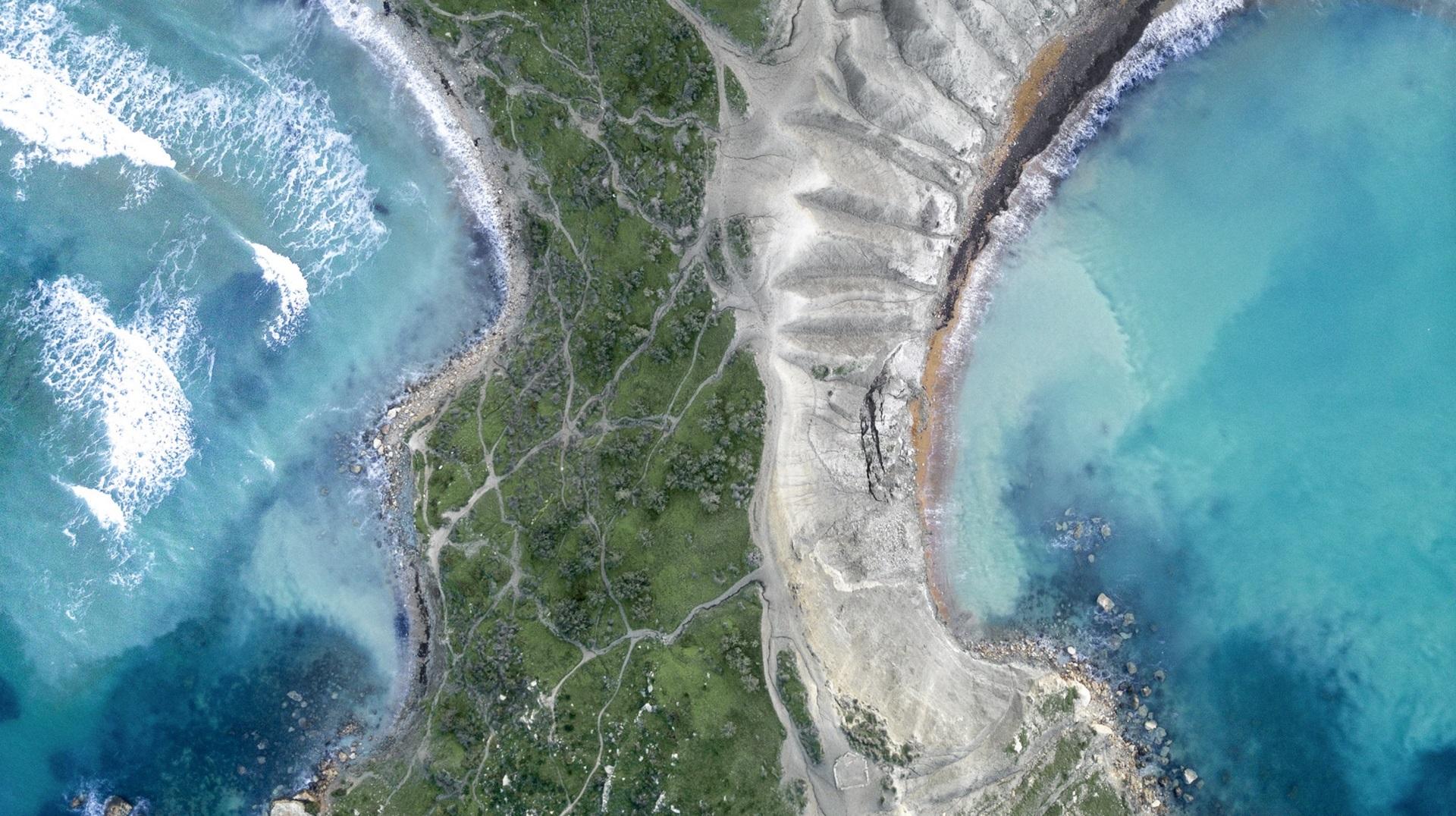 Ghajn Tuffieħa Bay, Malta aerial shot